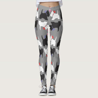 Westie Dog Art Leggings