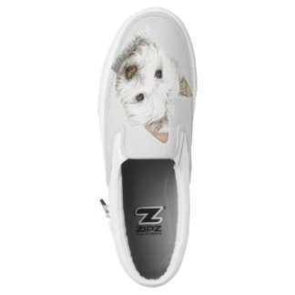 Westie Dog Art Shoes Printed Shoes