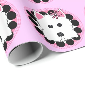 Westie Dog Design Wrapping Paper