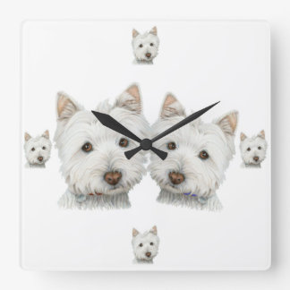 Westie Dogs Galore! Wall Clock