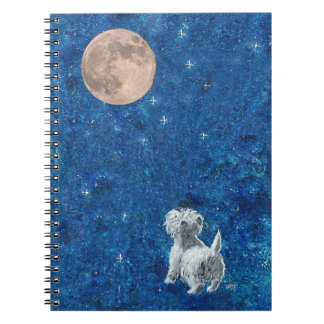 Westie Full Moon Notebook