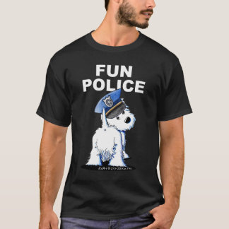 Westie FUN POLICE Dark Shirt