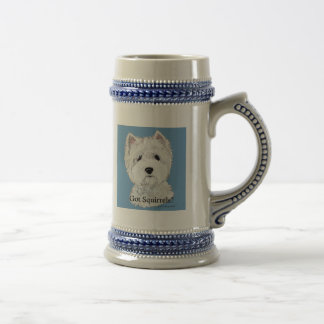 Westie  Got Squirrels? Beer Stein