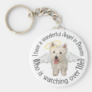Westie Guardian Angels Key Ring