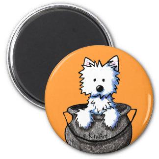 Westie Halloween Cauldron Cutie Magnet
