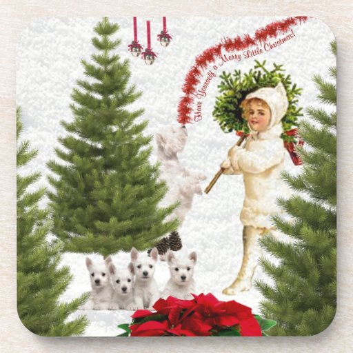 Westie Have Yourself a Merry Little Christmas Drink Coaster