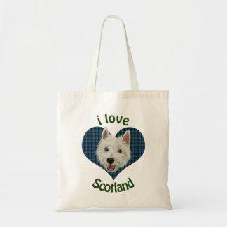 Westie, I Love Scotland Budget Tote Bag