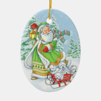"Westie ""Joyful Noise"" Christmas ornament by Borgo"