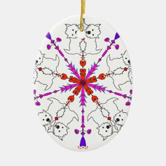 Westie kaleidoscope ceramic ornament