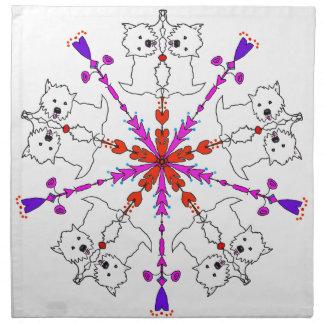 Westie kaleidoscope napkins