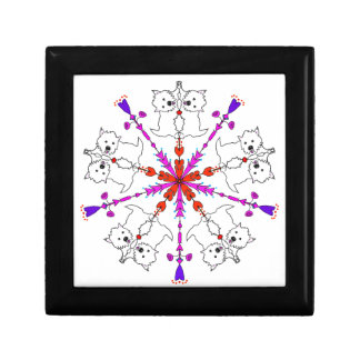 Westie kaleidoscope small square gift box