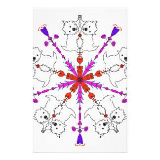 Westie kaleidoscope stationery