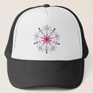 Westie kaleidoscope trucker hat