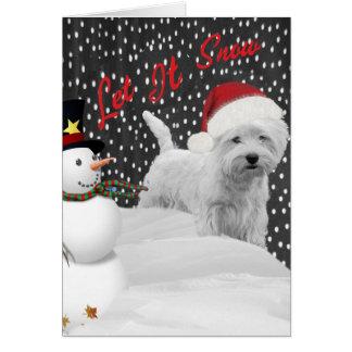 Westie Let It Snow Card