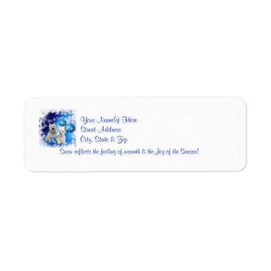 Westie Let It Snow! Design Return Address Labels