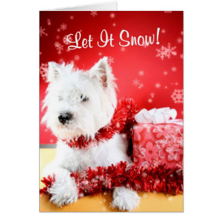Westie Let It Snow Greeting #3 - Customizable Greeting Card