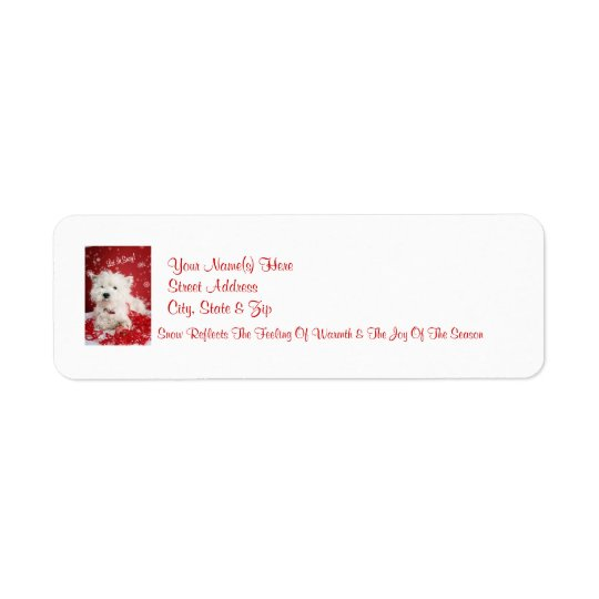 Westie Let It Snow! Return Address Labels
