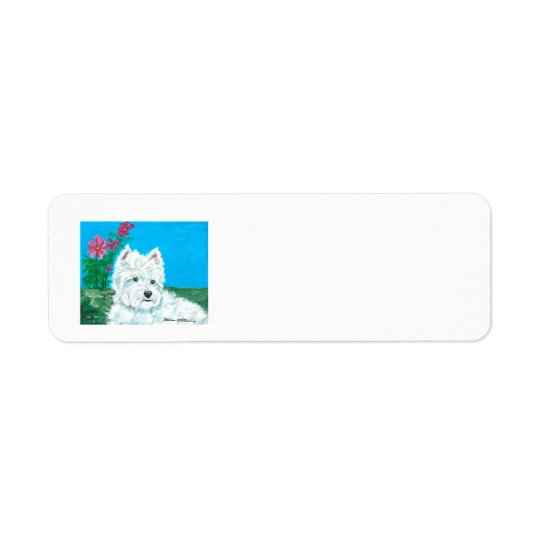 Westie letter return address label