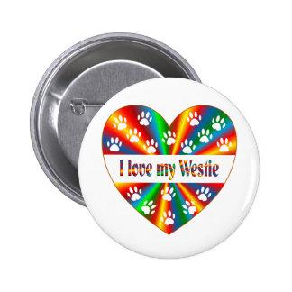 Westie Love 6 Cm Round Badge
