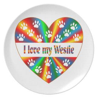Westie Love Plates