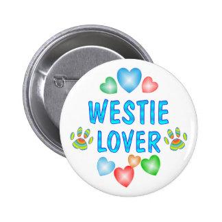 WESTIE LOVER 6 CM ROUND BADGE
