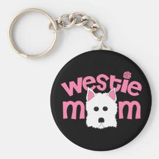 Westie Mom Key Ring