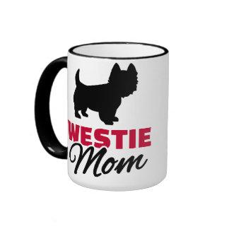 Westie mom ringer mug