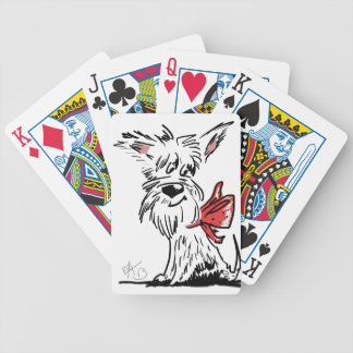 westie or scottie? bicycle playing cards