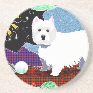 Westie Patchwork Coaster