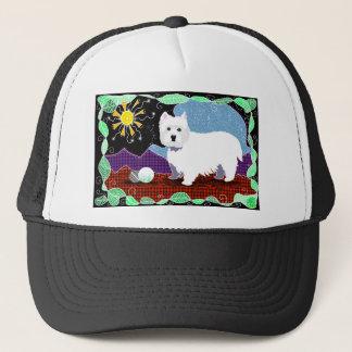Westie Patchwork Trucker Hat
