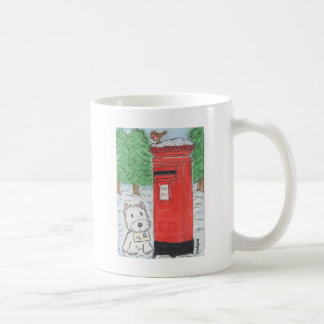 WESTIE POSTING LETTER CARD COFFEE MUG