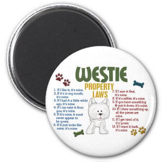 Westie Property Laws 4 Fridge Magnet