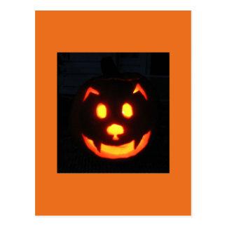 Westie Pumpkin Postcard