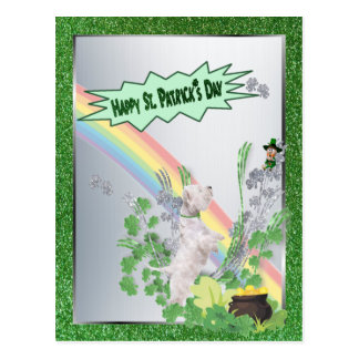 Westie Pup Number Two Happy St Patty Small Version Postcard
