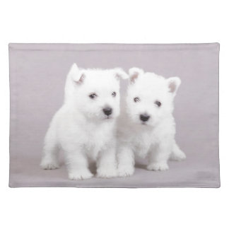 Westie puppies placemat