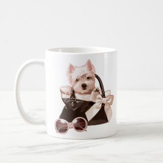Westie puppy in Handbag Coffee Mug