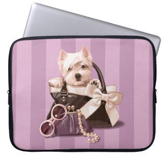 Westie puppy in Handbag Laptop Sleeve