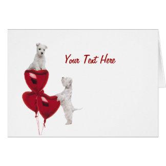 Westie Puppy Love Greeting Card