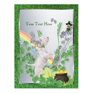 Westie Puppy Number Two St Pattys Customize It Postcard