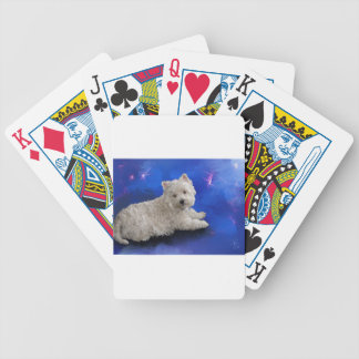 Westie Resting Bicycle Playing Cards