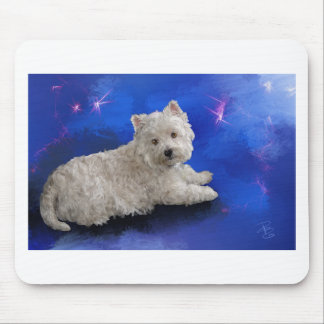 Westie Resting Mouse Pad