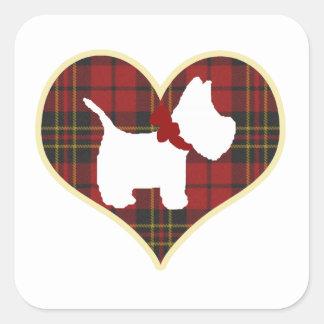Westie Right Square Sticker