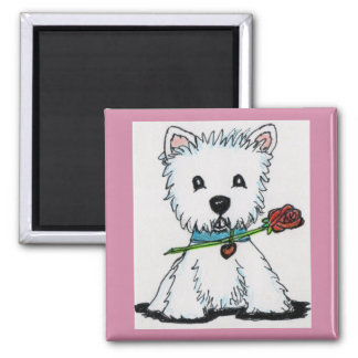 Westie Rose magnet mum nana birthday Christmas