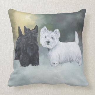 Westie Scottie Wintertime Throw Cushions
