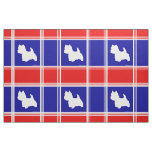 Westie Silhouette Red White Blue Fabric