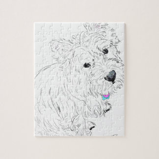 Westie siting at my feet jigsaw puzzle