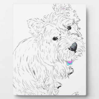 Westie siting at my feet plaque