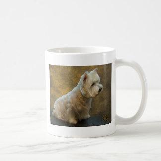 Westie sitting coffee mug