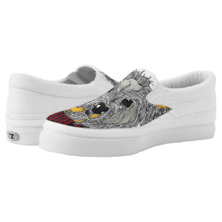 Westie Slip on Shoes Printed Shoes