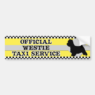 Westie Taxi Service Bumper Sticker